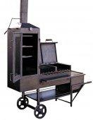 Grill wykonany jest z grubej stali nierdzewnej, dzięki czemu jest odporny na wysokie temperatury oraz na warunki atmosferyczne.