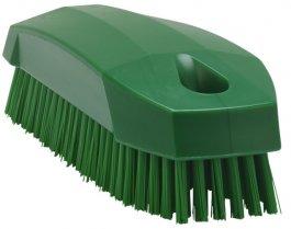 Szczotka do rąk, szczoteczka do paznokci, twarda, zielona, 130 mm, VIKAN 64402