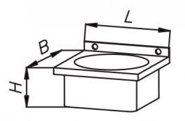 Umywalka zabudowana 400x400x200mm nierdzewna