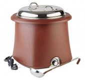 Podgrzewacz elektryczny do zupy, pojemność 10 litrów, brązowy, APS 11902