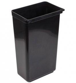 Pojemnik na odpadki do zaczepiania, do wózka 11945, czarny, pojemność 42l, APS 11946