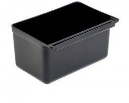 Pojemnik na odpadki do zaczepiania, do wózka 11945, czarny, pojemność 13l, APS 11947