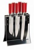 Zestaw 6 noży Red Spirit w bloku 4KNIFES XL z akrylu, DICK 8177300
