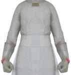 Bolero ochronne ze stali nierdzewnej, z 2 ramionami ochronnymi, wym. 65x100cm, LIGHT BOL100652 (XL)