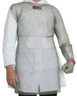 Bolero ochronne ze stali nierdzewnej, z1ramieniem ochronnym, wym. 50x90cm, LIGHT BOL90501 (S)