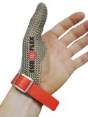 Ochrona kciuka STANDARD CLASSIC, ze stali nierdzewnej, biała, rozmiar 7, size S, DCS01