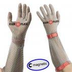Rękawica COMFORT MAGNETIC, mankiet 21cm, nierdzewna, czerwona, rozmiar 8, size M, HC25221 M