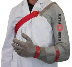 Rękawica CLASSIC z ochroną ramienia, stal nierdzewna, biała, rozmiar 7, size S, HC251AS