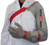 Rękawica CLASSIC z ochroną ramienia, stal nierdzewna, zielona, rozmiar 6, size XS, HC250AS