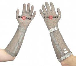 Rękawica ochronna WAVE COMFORT, mankiet 21cm, nierdzewna, biała, rozmiar 7, size S, HCO5121