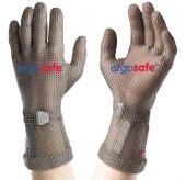 Rękawica ochronna ERGOSAFE, z mankietem 8cm, nierdzewna, brązowa, rozmiar 5, size XXS, HE44908