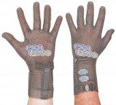 Rękawica ECOMESH z mankietem 8cm, nierdzewna, 5 palcowa, zielona, rozmiar 6, size XS, HEM5008 FM
