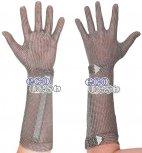 Rękawica ECOMESH z mankietem 21cm, nierdzewna, 5 palcowa, brązowa, rozmiar 5, size XXS, HEM4921 FM
