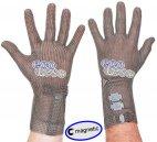 Rękawica ochronna ECOMESH MAGNETIC, mankiet 8cm, nierdzewna, zielona, rozm. 6, size XS, HEM5008 FMM