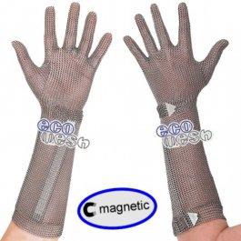 Rękawica ECOMESH MAGNETIC, mankiet 21cm, nierdzewna, zielona, rozmiar 6, size XS, HEM5021 FMM