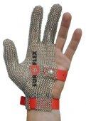 Rękawica ochronna STANDARD, nierdzewna 3-palcowa, czerwona, rozmiar 8, size M, HS132