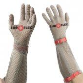 Rękawica ochronna CLASSIC, z mankietem 21cm, nierdzewna, czerwona, rozmiar 8, size M, HC25221