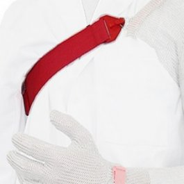 Szelka do rękawicy bezpieczeństwa zochroną ramienia, polipropylenowa, czerwona, KBASPP-R / W/ B