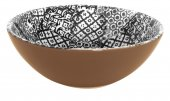 Miska ceramiczna MINERVA, średnica 18cm, wysokość 6cm, pojemność 0,5l, czarna, XANTIA 31022