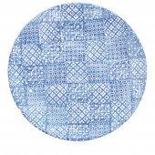 Talerz płaski MINERVA, ceramiczny, średnica 27,5cm, wysokość 3cm, niebieski, XANTIA 31025