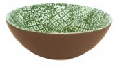 Miska ceramiczna MINERVA, średnica 18cm, wysokość 6cm, pojemność 0,5l, zielona, XANTIA 31030