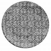 Talerz płaski VESTA, ceramiczny, średnica 27,5cm, wysokość 3cm, czarny, XANTIA 31040