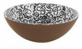 Miska ceramiczna VESTA, średnica 18cm, wysokość 6cm, pojemność 0,5l, czarna, XANTIA 31041