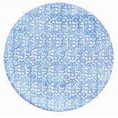 Talerz płaski VESTA, ceramiczny, średnica 27,5cm, wysokość 3cm, niebieski, XANTIA 31044