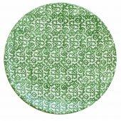 Talerz płaski VESTA, ceramiczny, średnica 27,5cm, wysokość 3cm, zielony, XANTIA 31048