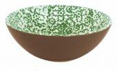 Miska ceramiczna VESTA, średnica 18cm, wysokość 6cm, pojemność 0,5l, zielona, XANTIA 31049