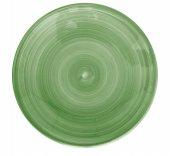 Talerz płaski CERES, płytki, ceramiczny, średnica 22cm, wysokość 2,2cm, zielony, XANTIA 31062