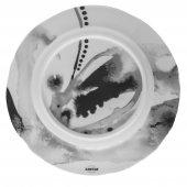 Talerz płaski JUNO, porcelanowy, średnica 19,5cm, wysokość 2cm, szary, XANTIA 31073