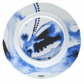 Talerz płaski JUNO, porcelanowy, średnica 19,5cm, wysokość 2cm, niebieski, XANTIA 31074