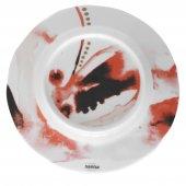 Talerz płaski JUNO, porcelanowy, średnica 19,5cm, wysokość 2cm, czerwony, XANTIA 31075