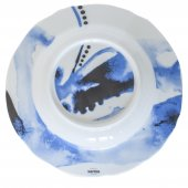 Talerz głęboki JUNO, porcelanowy, średnica 23cm, wysokość 3,3cm, poj. 0,3l, niebieski, XANTIA 31077
