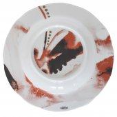 Talerz głęboki JUNO, porcelanowy, średnica 23cm, wysokość 3,3cm, poj. 0,3l, czerwony, XANTIA 31078