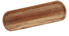 Deska zdrewna akacjowego do serwowania, wym. 40x15 cm, grubość 1,8 cm, EXXENT 68401