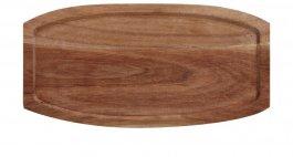 Deska zdrewna akacjowego do serwowania, wym. 28x14 cm, grubość 1,8 cm, EXXENT 68402