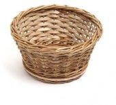 Koszyk wiklinowy na pieczywo, okrągły, średnica 14,5cm, wysokość 8cm, naturalny, XANTIA 89001