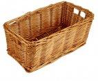 Koszyk wiklinowy na sztućce, wymiary 24x13cm, wysokość 11,7cm, naturalny, XANTIA 89010
