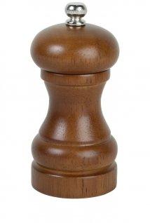 Młynek drewniany do pieprzu isoli, brązowy, średnica 5cm, wysokość 11 cm, EXXENT 89039