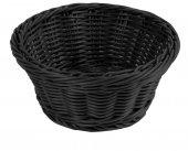 Koszyk z polipropylenu na pieczywo, okrągły, średnica 18,5cm, wysokość 7,5cm, czarny, BBM 89065