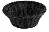 Koszyk polipropylenowy na pieczywo, okrągły, średnica 23cm, wysokość 7,5cm, czarny, BBM 89066