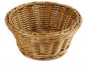 Koszyk polipropylenowy na pieczywo, okrągły, średnica 18,5cm, wysokość 7,5cm, brązowy, BBM 89091