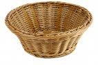Koszyk z polipropylenu na pieczywo, okrągły, średnica 23cm, wysokość 7,5cm, brązowy, BBM 89092