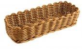 Koszyk z polipropylenu na sztućce, wymiary 26,5x10cm, wysokość 6cm, brązowy, BBM 89098