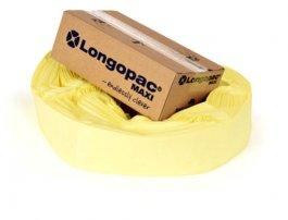 Worek na śmieci 90m PAXXO Maxi zklipsami, żółte