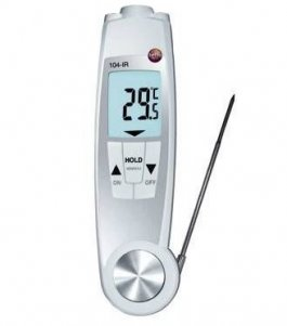 Pirometr HACCP, termometr bezdotykowy zsensorem podczerwieni isondą penetracyjną, TESTO 104-IR