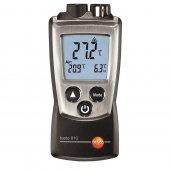 Termometr bezdotykowy z 1-punktowym celownikiem laserowym i sensorem wewn. NTC, 2 kanały, TESTO 810