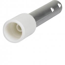 Adapter dokręcany do styla, przejściówka zgwintu na klik, biała, długość 155 mm, VIKAN 2994